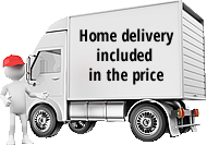 Home delivery included in the price