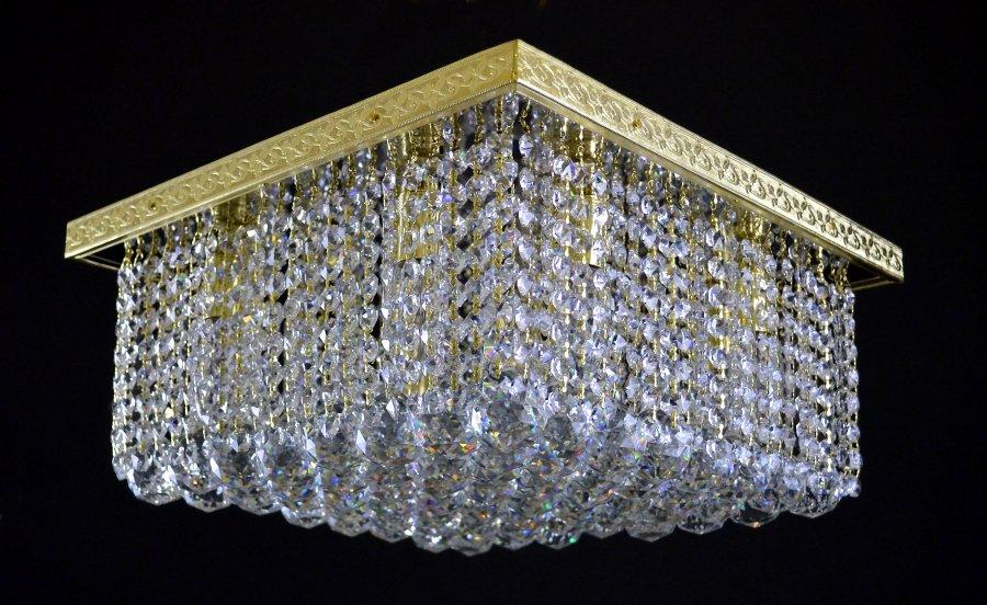 plafonnier cristal plafonnier atla bleu ampoules en mtal. Black Bedroom Furniture Sets. Home Design Ideas
