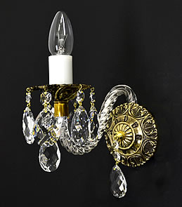 Libra 1 Gold - Cast Wall Sconce